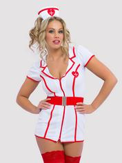 Lovehoney Fantasy Naughty Nurse Costume, White, hi-res