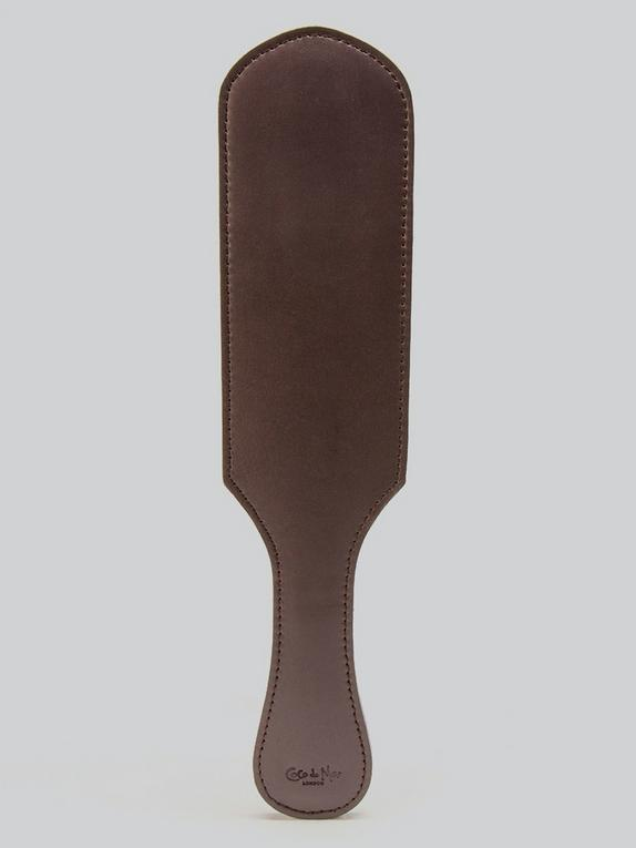 Coco de Mer Brown Leather Paddle, Brown, hi-res