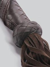 Coco de Mer Brown Leather Flogger, Brown, hi-res