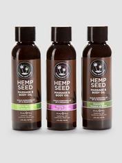 Coffret cadeau 3 huiles de massage graine de chanvre (3 x 60 ml) Earthly Body, , hi-res