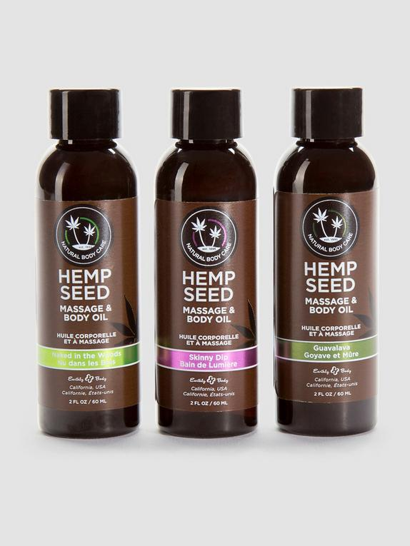 Earthly Body Hemp Seed Massage Oil Gift Set (3 x 60 ml), , hi-res