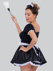 Lovehoney Fantasy Deluxe French Maid Costume, Black, hi-res
