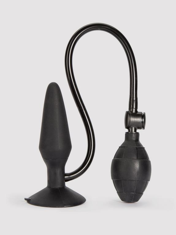Booty Call Medium Silicone Inflatable Butt Plug 6.5 Inch, Black, hi-res