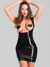 Latex Underbust Spanking Dress with Soft Lining, Negro , hi-res