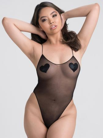 Lovehoney Sheer Crotchless Spaghetti Strap Teddy