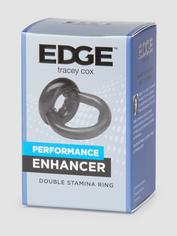 Tracey Cox EDGE Performance Enhancer Double Stamina Ring, Black, hi-res