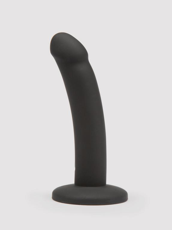 Lovehoney Curved Silicone Suction Cup Dildo 5.5 Inch, Black, hi-res