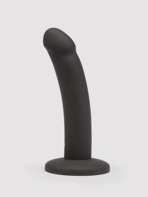Gode ventouse courbé silicone noir 14 cm, Lovehoney