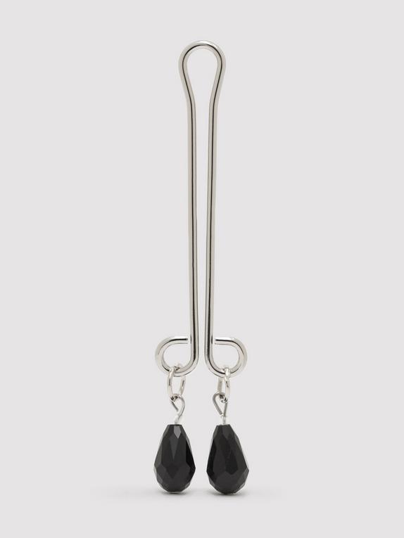 Bondage Boutique Jewelled Clitoral Pleasure Clip, Silver, hi-res