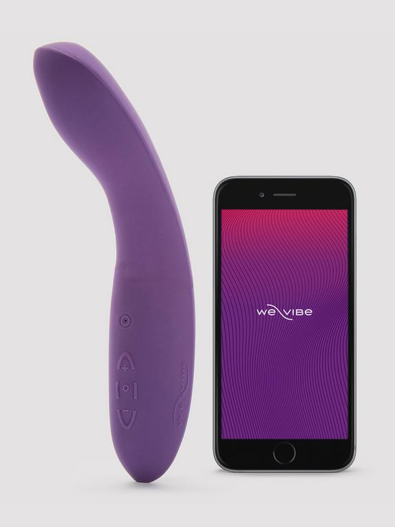 We-Vibe Rave App Controlled Rechargeable G-Spot Vibrator, Purple, hi-res