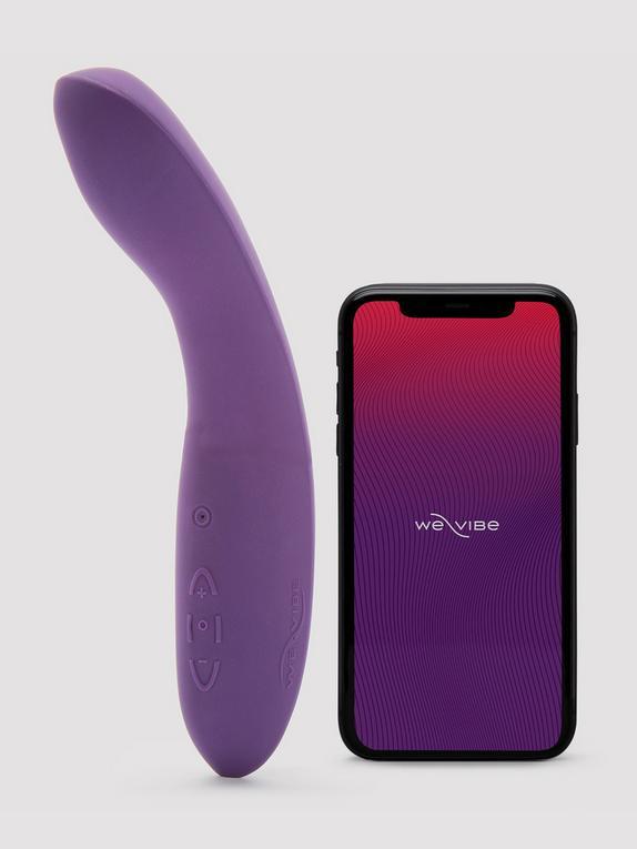 Vibromasseur point G contrôlé via appli rechargeable Rave, We-Vibe, Violet, hi-res