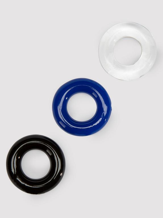 BASICS Donut Cock Ring Multipack (3 Count), Clear, hi-res