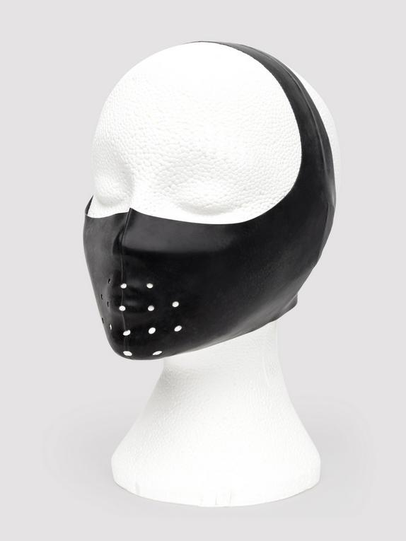 Renegade Rubber Latex Gimp Mask Muzzle, Black, hi-res