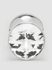 Rosebuds Stainless Steel Swarovski Crystal Butt Plug 2.5 Inch, Clear, hi-res