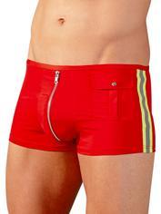 Svenjoyment Sexy Fireman Zip Front Boxers, Red, hi-res