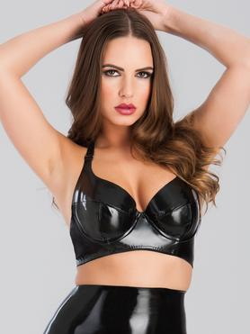 Easy-On Latex Halterneck Balcony Bra