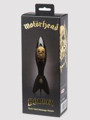 Motörhead Bomber Black and Gold Rock Hard Glass Dildo, Black, hi-res