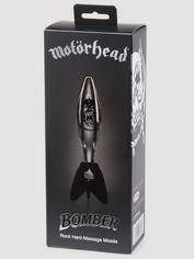 Motörhead Bomber Clear and Black Rock Hard Glass Dildo, Clear, hi-res