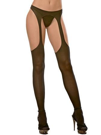 Dreamgirl Opaque Garter Pantyhose