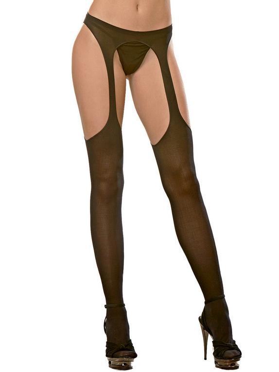 Panties Ligueros Opacos de Dreamgirl, Negro , hi-res