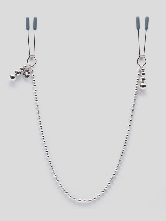 Fifty Shades Darker At My Mercy Chained Nipple Clamps, Silver, hi-res