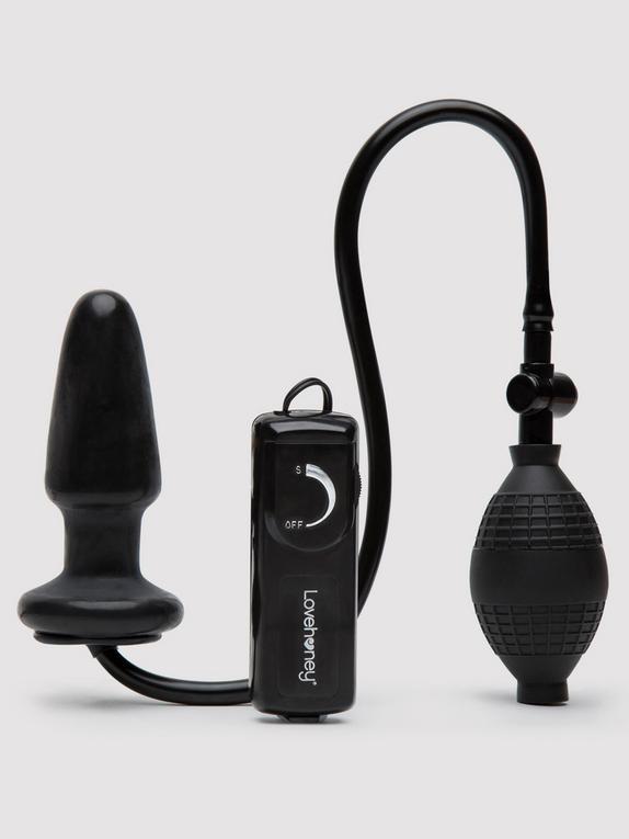 Plug anal gonflable vibrant, Lovehoney, Noir, hi-res