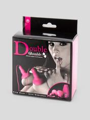 Double Double Powerful Vibrating Silicone Nipple and Clit Teasers, Pink, hi-res
