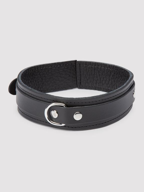 Bondage Boutique Soft Leather Collar, Black, hi-res