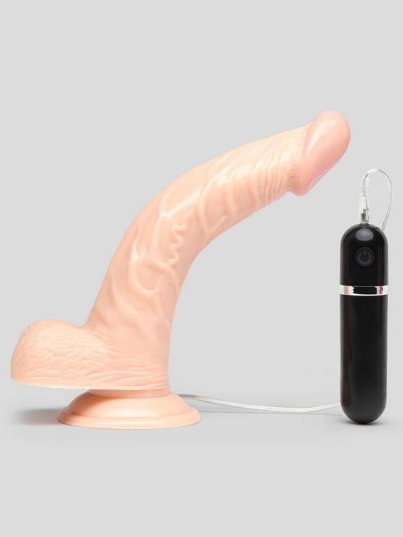 Lifelike Lover Classic Curved Realistic Dildo Vibrator 8 Inch, Flesh Pink, hi-res