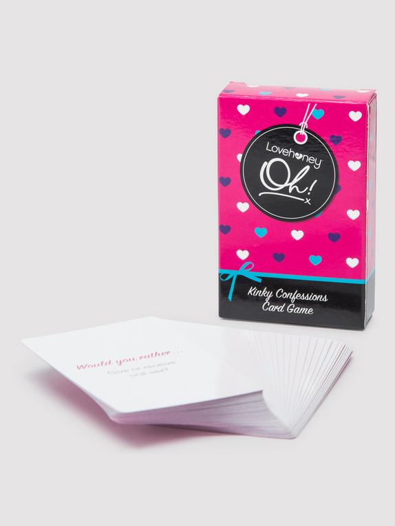 Lovehoney Oh! Kinky Confessions Truth or Dare Card Game (52 Pack), , hi-res