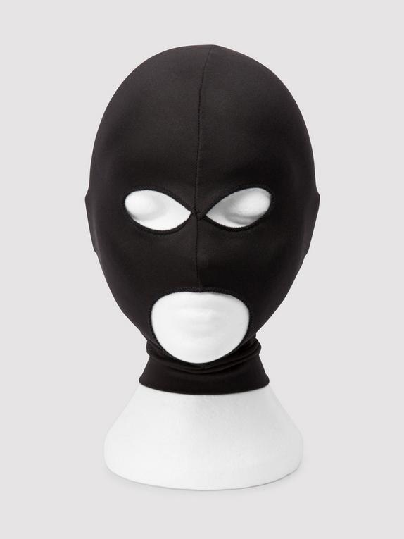 Bondage Boutique Open Eye and Mouth Spandex Hood, Black, hi-res