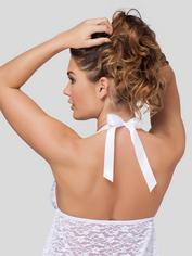 Lovehoney Unwrap Me Red Lace Babydoll, White, hi-res