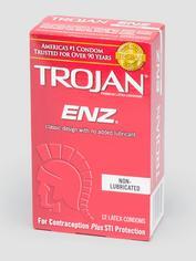 Trojan ENZ Non-Lubricated Latex Condoms (12 Count), , hi-res