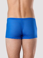 LHM Stripe Mesh Boxer Shorts Black, Blue, hi-res