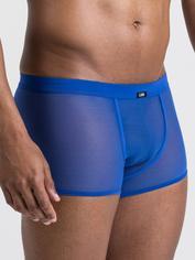 LHM Microfibre & Mesh Boxer Shorts, Blue, hi-res