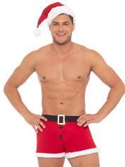 Santa Trunks and Hat Set, Red, hi-res