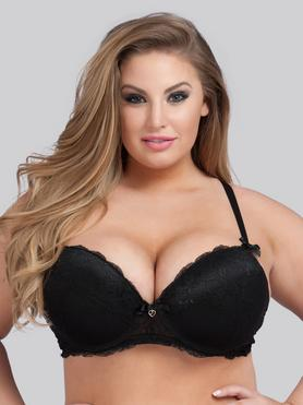 Lovehoney Plus Size Love Me Lace Push-Up Bra