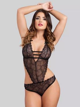 Lovehoney Crotchless Open-Back Lace Teddy