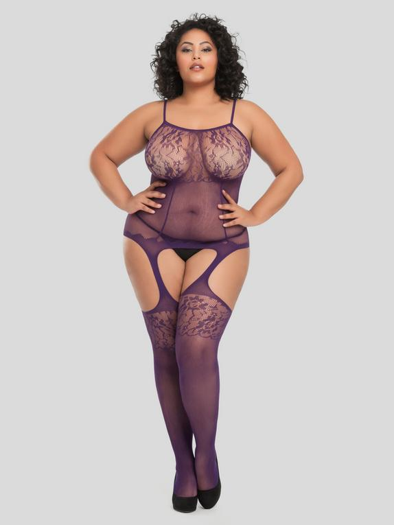 Lovehoney Up All Night Lace Bodystocking, , hi-res
