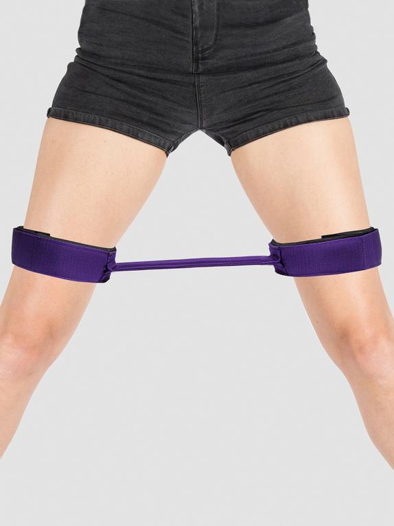 Purple Reins 12 Inch Thigh Spreader Bar, Purple, hi-res