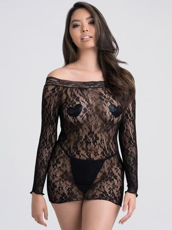 Lovehoney Off the Shoulder Lace Mini Dress