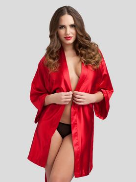 Lovehoney Short Red Satin Robe