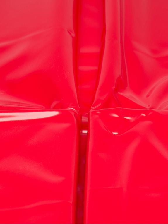 Glänzendes Doppelbettlaken (Vinyl), Rot, hi-res