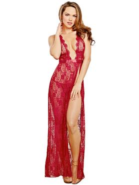 Dreamgirl Lace Side Slit Gown