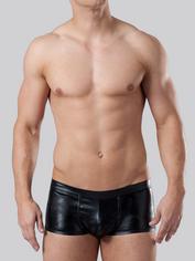 LHM Wet Look Boxer Shorts, Black, hi-res