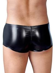 Svenjoyment Wet Look Zip Front Enhancement Boxers, Black, hi-res