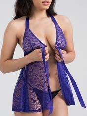 Lovehoney Unwrap Me Red Lace Babydoll, Purple, hi-res