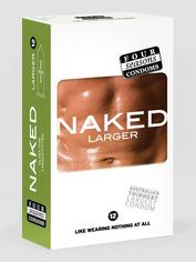 Four Seasons Naked Larger Condoms (12 Pack), , hi-res
