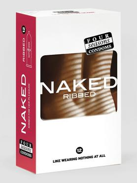 Four Seasons Naked Ribbed Condoms (12 Pack)
