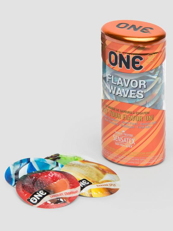 ONE Flavor Waves Condoms (12 Count), , hi-res